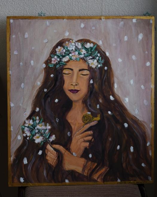 Akimirkų Gaudyklė - Jolanta Daubaraitė - tapyba Moteris ir laikas